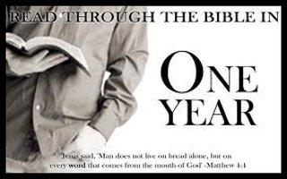 Bible Reading Plan - pastor Bruce Edwards