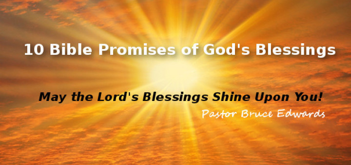 God's blessings by pastor bruce edwards
