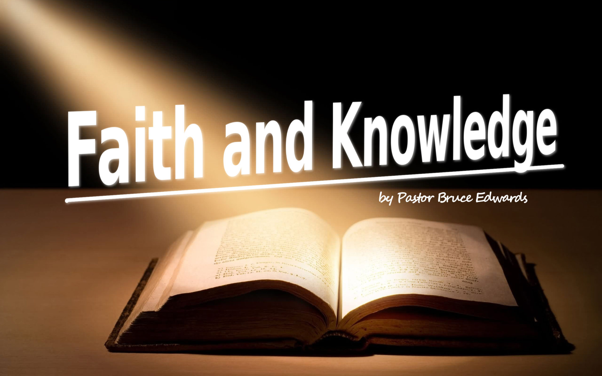 faith as a basis of knowledge in The faith by which it is believed, fides qua, or subjective faith, refers to the means by which we come to personally grasp the realities that are expressed by the deposit of faith this aspect of faith refers to a concrete personal encounter between each one of us and god.